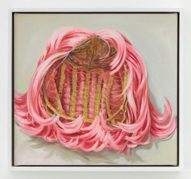 "Portia Munson, ""Wig"", 2005, oil on linen, 13 x 14 inches (Courtesy the artist and PPOW Gallery)"