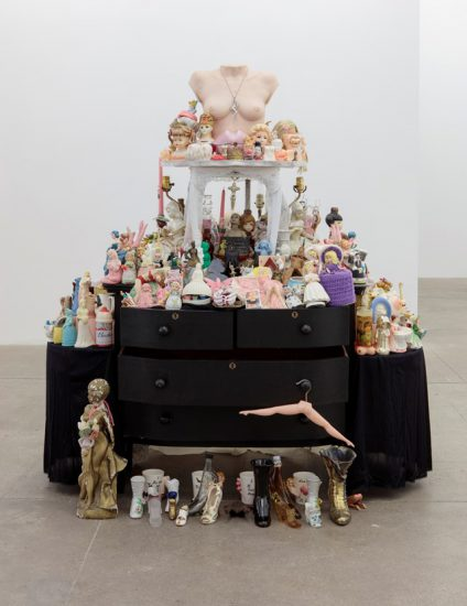 """Portia Munson, """"Functional Women"""", 2016-ongoing, found functional objects in the form of women, dresser and table, 69 x 40 x 25 inches (Courtesy the artist and PPOW Gallery)"""