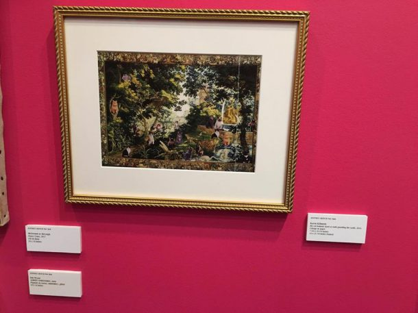 View of Karen Kilimnik's piece in Jeffrey Deitch's booth (photo by author)