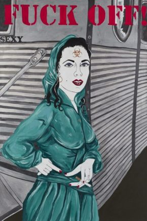 "Filthy Dreams's GIF Review: Kathe Burkhart's ""From The Liz Taylor Series"" At Mary Boone"